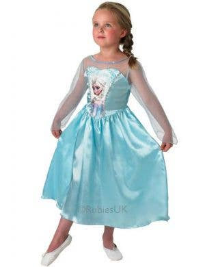 Classic Snow Queen Elsa Girls Fancy Dress Costume