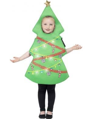 Festive Christmas Tree Kids Fancy Dress Costume
