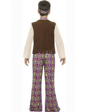 1970's Retro Hippie Boys Fancy Dress Costume