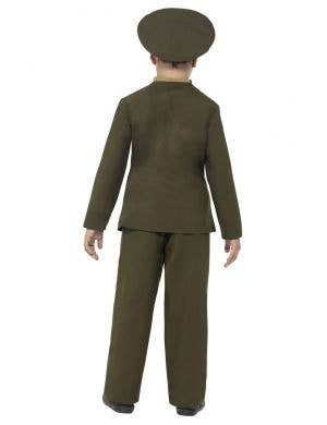 1940's Army Officer Boys Fancy Dress Costume