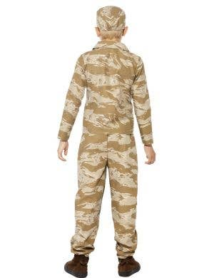 Desert Soldier Boys Fancy Dress Costume