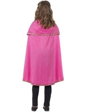 Pretty Pink Girls Cape Costume Accessory
