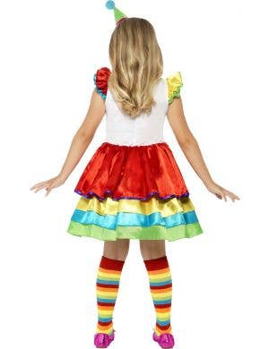 Colourful Clown Deluxe Girls Costume