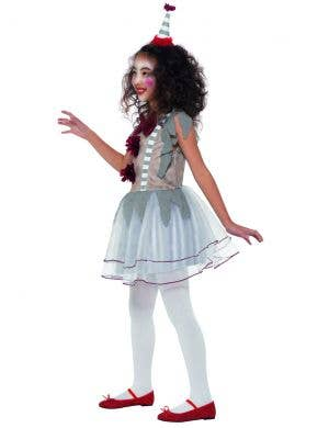 Vintage Creepy Clown Girls Halloween Costume