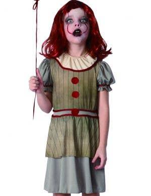 Horror Movie Clown Girls Halloween Costume