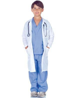Doctor Scrubs and Lab Coat Boys Costume