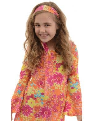 Flower Child Girl's 60s Hippie Dress Costume