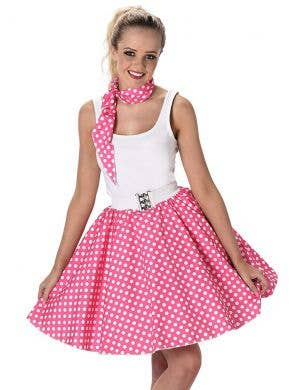 1950's Pink Polka Dot Women's Costume