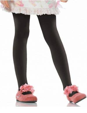 Opaque Girl's Black Stockings