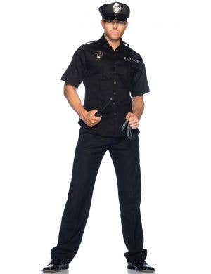 Policeman Deluxe Men's Fancy Dress Costume