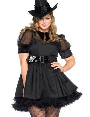 7a1287eac86 Black Witch Plus Size Sexy Halloween Costume Main View Bewitching Black  Magic Witch Women s Costume - Plus Size