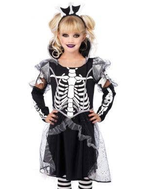 Skeleton Princess Deluxe Girls Halloween Costume