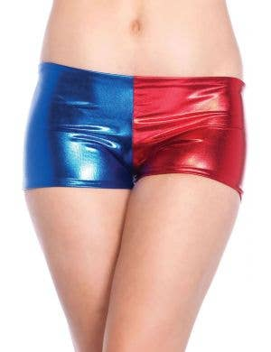 Red and Blue Women's Booty Shorts Costume Accessory