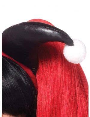 Harlequin Red and Black Costume Accessory Headband