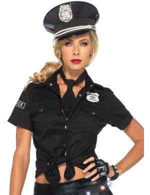 Policewoman Sexy Costume Shirt with Badge