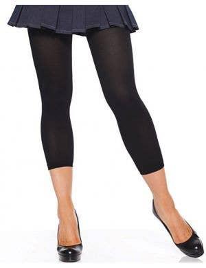 Opaque Black Footless Leggings