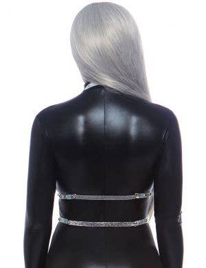 Studded Silver Holographic Vinyl Body Harness