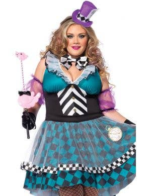 Manic Mad Hatter Women's Sexy Plus Size Costume