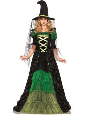 Storybook Witch Women's Green Spellcaster Halloween Costume