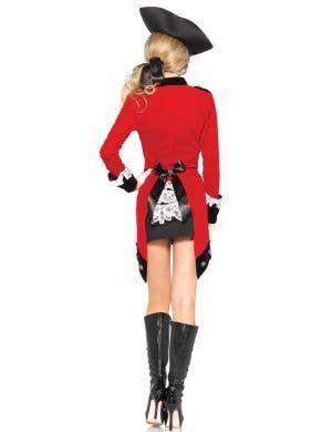 Rebel Red Coat Women's Colonial Fancy Dress Costume