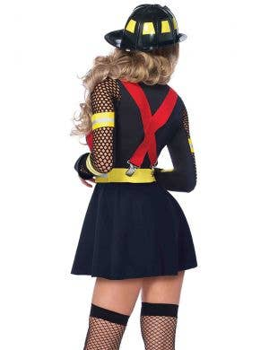 Red Hot Fire Captain Sexy Women's Costume