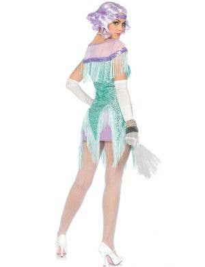 Flirty Foxtrot Women's Aqua Sequined Flapper Costume