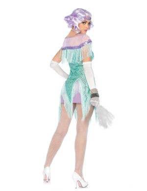 Flirty Foxtrot Women's Aqua Sequined Flapper Costume