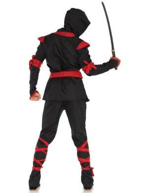 Ninja Warrior Red And Black Men's Fancy Dress Costume