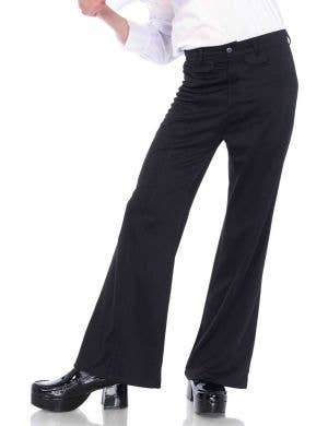 Classic Black 1970's Men's Bell Bottom Costume Pants