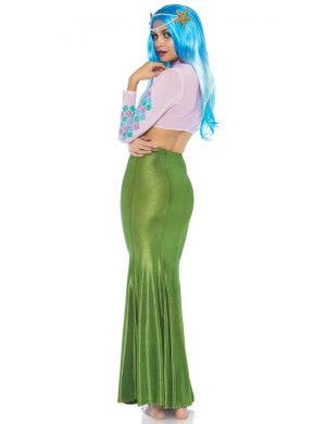 Shimmer Spandex Women's Green Mermaid Skirt