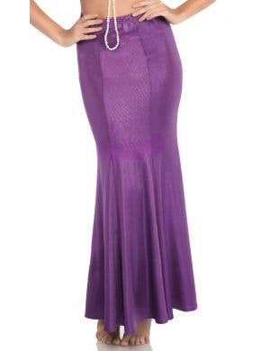 Shimmer Purple Spandex Women's Plus Size Mermaid Skirt