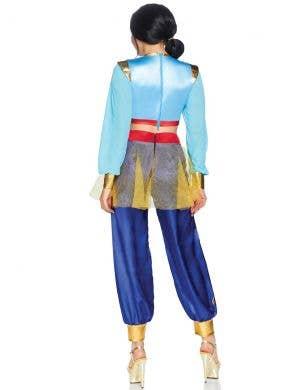 Arabian Women's Deluxe Blue Genie Fancy Dress Costume