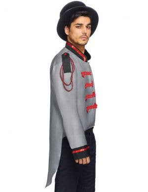 Military Men's Grey Halloween Costume Jacket with Tails