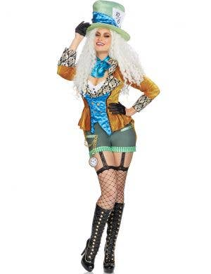 Deluxe Classic Women's Mad Hatter Fancy Dress Costume