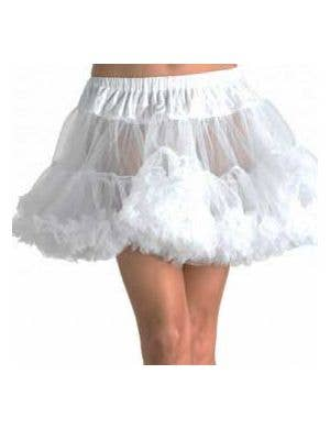 Thigh Length White Plus Size Mesh Petticoat