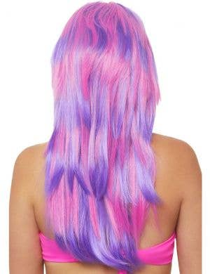 Cheshire Cat Women's Pink and Purple Striped Wig