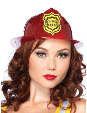 Fireman Adults Deluxe Red Costume Hat