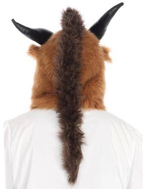 Furry Brown Brutal Beast Hood Costume Accessory