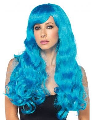 Starbright Long Wavy Women's Blue Costume Wig