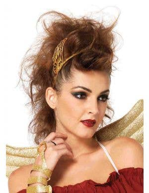 Mythical Golden Angel Women's Winged Headpiece