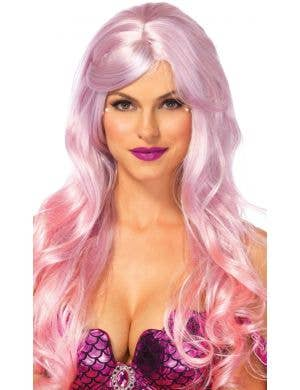 Magical Mermaid Pink Ombre Costume Wig