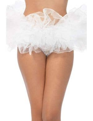 Fluffy White Layered Tutu Women's Costume Accessory
