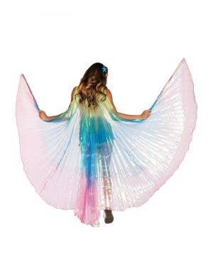 Pleated Rainbow Festival Wings Costume Accessory