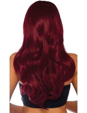 Daring Dark Red Women's Long Wavy Costume Accessory Wig