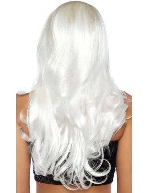 Bewitching Long White Wavy Women's Wig