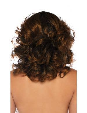 Farrah Feathered Brown Curly Costume Wig