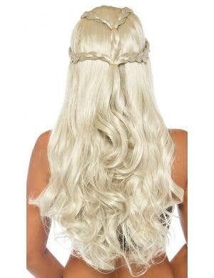 Platinum Blonde Braided Long Wavy Women's Costume Wig