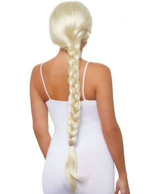 Deluxe Women's Long Blonde Braided Ponytail Costume Wig