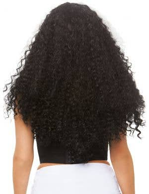 Long Curly Women's Black and White Halloween Costume Wig