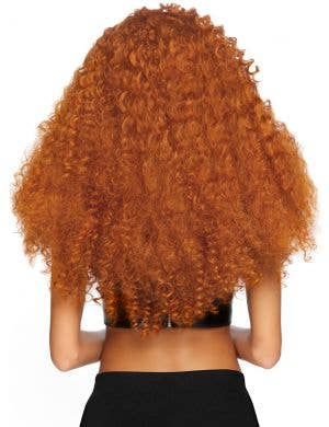 Long Extra Curly Women's Auburn Ginger Costume Wig